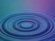 Ondes circulaires dans l'eau