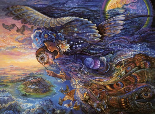 Queen of the Night - Josephine Wall. Visitez son site: www.josephine-wall-imaginaiton-art.com